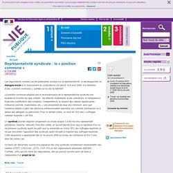Représentativité syndicale : syndicats, CFDT, CFE-CGC, CFTC, CGT, FO, EDEF, CGPME, UPA. En bref - Actualités