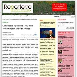 Le nucléaire représente 17% de la consommation d'énergie française