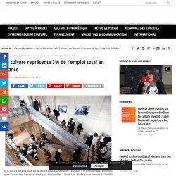 La culture représente 3% de l'emploi total en France - Cultureveille