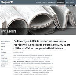 En France, en 2013, la démarque inconnue a représenté 4,4 milliards d'euros, soit 1,09 % du chiffre d'affaires des grands distributeurs. - Checkpoint Systems
