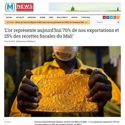 'L'or représente aujourd'hui 70% de nos exportations et 25% des recettes fiscales du Mali' - MALI'S NEWS