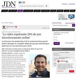 """Grégory Olivier (Microsoft):""""La vidéo représente 20% de nos investissements online"""""""