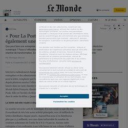 «Pour La Poste, le numérique représente également une opportunité»