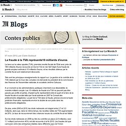 La fraude à la TVA représente10 milliards d'euros