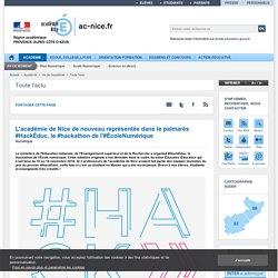 L'académie de Nice de nouveau représentée dans le palmarès #HackÉduc, le #hackathon de l'#ÉcoleNumérique