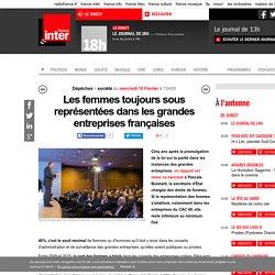 Les femmes toujours sous représentées dans les grandes entreprises françaises