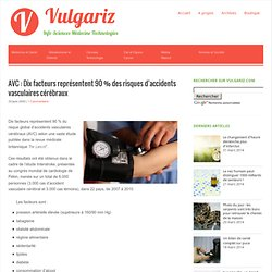 AVC : Dix facteurs représentent 90 % des risques d'accidents vasculaires cérébraux