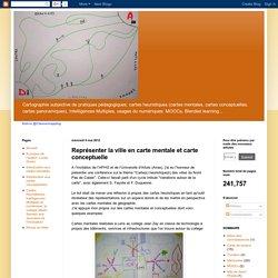 Représenter la ville en carte mentale et carte conceptuelle