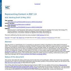 Representing Content in RDF 1.0