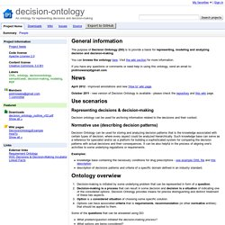 decision-ontology - An ontology for representing decisions and decision-making