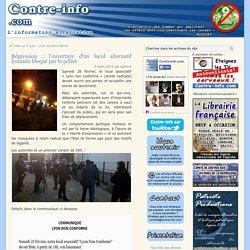 Répression : l'ouverture d'un local alternatif lyonnais bloqué par la police