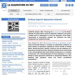 Sarkozy Exports Repressive Internet