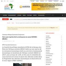 Vers une reprise de la croissance en zone CEMAC (BEAC) - Apanews.net