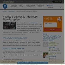 Reprise d'entreprise - Business Plan de reprise