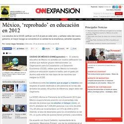 México, 'reprobado' en educación en 2012