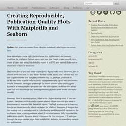 Creating Reproducible, Publication-Quality Plots With Matplotlib and Seaborn - Jessica Hamrick