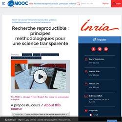 Recherche reproductible : principes méthodologiques pour une science transparente