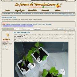 Porte Greffe 2015 : Les greffes sur porte-greffes reproductibles - Page 6 - Tomodori.com... Les mordus de la tomate & des jardins naturels