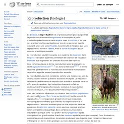 Reproduction (biologie)
