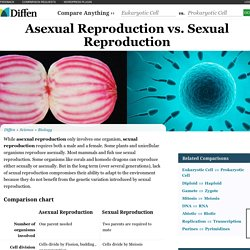 Asexual Reproduction vs Sexual Reproduction - Difference and Comparison