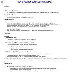 REPRODUCTION SEXUEE DES VEGETAUX