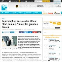 Reproduction sociale des élites: l'Inet comme l'Ena et les grandes écoles