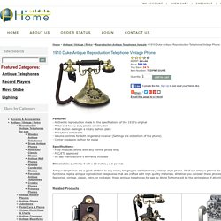 1910 Duke Antique Reproduction Telephone European Antique Brass Phones