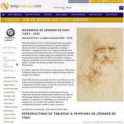 Léonard de Vinci, reproductions et copies des tableaux et dessins du maitre