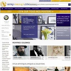 Reproductions de tableaux avec Repro-tableaux.com : reproductions imprimées, reproductions peintes à l'huile et affiches laminées sur toile