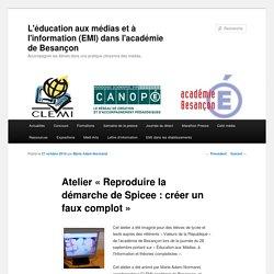 L'éducation aux médias et à l'information (EMI) dans l'académie de Besançon