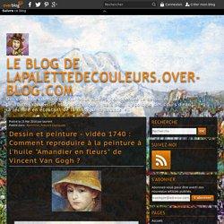 """vidéo 1740 : Comment reproduire à la peinture à l'huile """"Amandier en fleurs"""" de Vincent Van Gogh ?"""