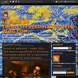 vidéo 1951 : Une oeuvre reproduite à l'acrylique, expliquée à partir de la réalisation d'un tableau de style baroque.