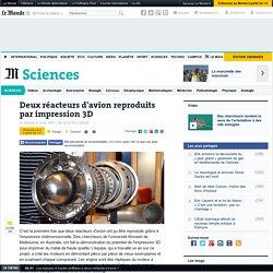 Deux réacteurs d'avion reproduits par impression 3D