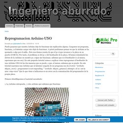 Reprogramacion Arduino UNO
