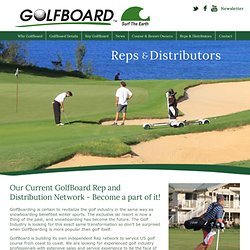 Reps & Distributors - GolfBoard