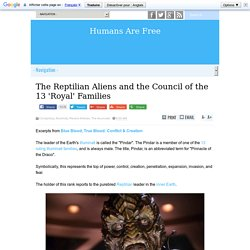 The Reptilian Aliens and the Council of the 13 'Royal' Families