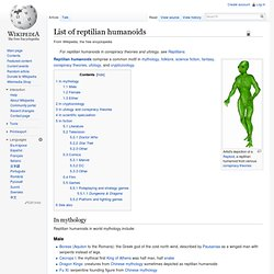 List of reptilian humanoids