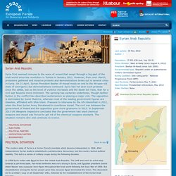 Syrian Arab Republic country update - European Forum - for Democracy and Solidarity