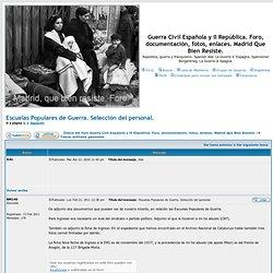 Guerra Civil Española y II República. Foro, documentación, fotos, enlaces. Madrid Que Bien Resiste.
