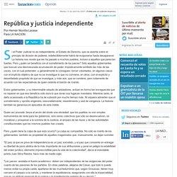 República y justicia independiente - 10.04.2007