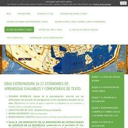 BLOQUE 10.LA II REPÚBLICA Y LA GUERRA CIVIL. - Recursos de Geografía e Historia
