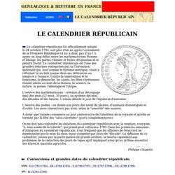 Le calendrier républicain - Historique et conversions