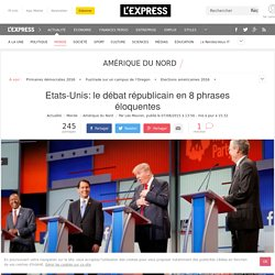 Etats-Unis: le débat républicain en 8 phrases éloquentes