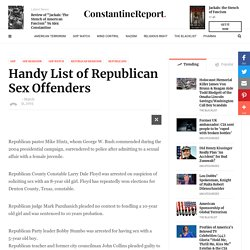 Handy List of Republican Sex Offenders - The Constantine Report