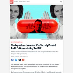 The Republican Lawmaker Who Secretly Created Reddit's Women-Hating 'Red Pill'