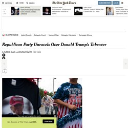 Republican Party Unravels Over Donald Trump's Takeover