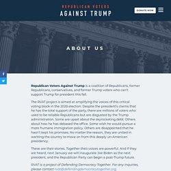 About Us - Republican Voters Against Trump
