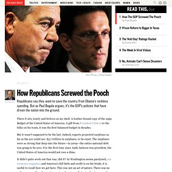 How Republicans Screwed the Pooch - Print View