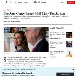Republicans Confirm Amy Coney Barrett to Supreme Court