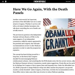 Here We Go Again, With the Death Panels ..... 4/19/11
